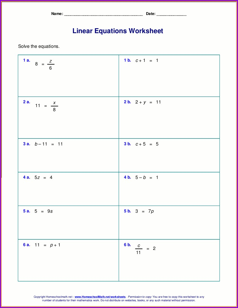 8th Grade Solving Inequalities Worksheet