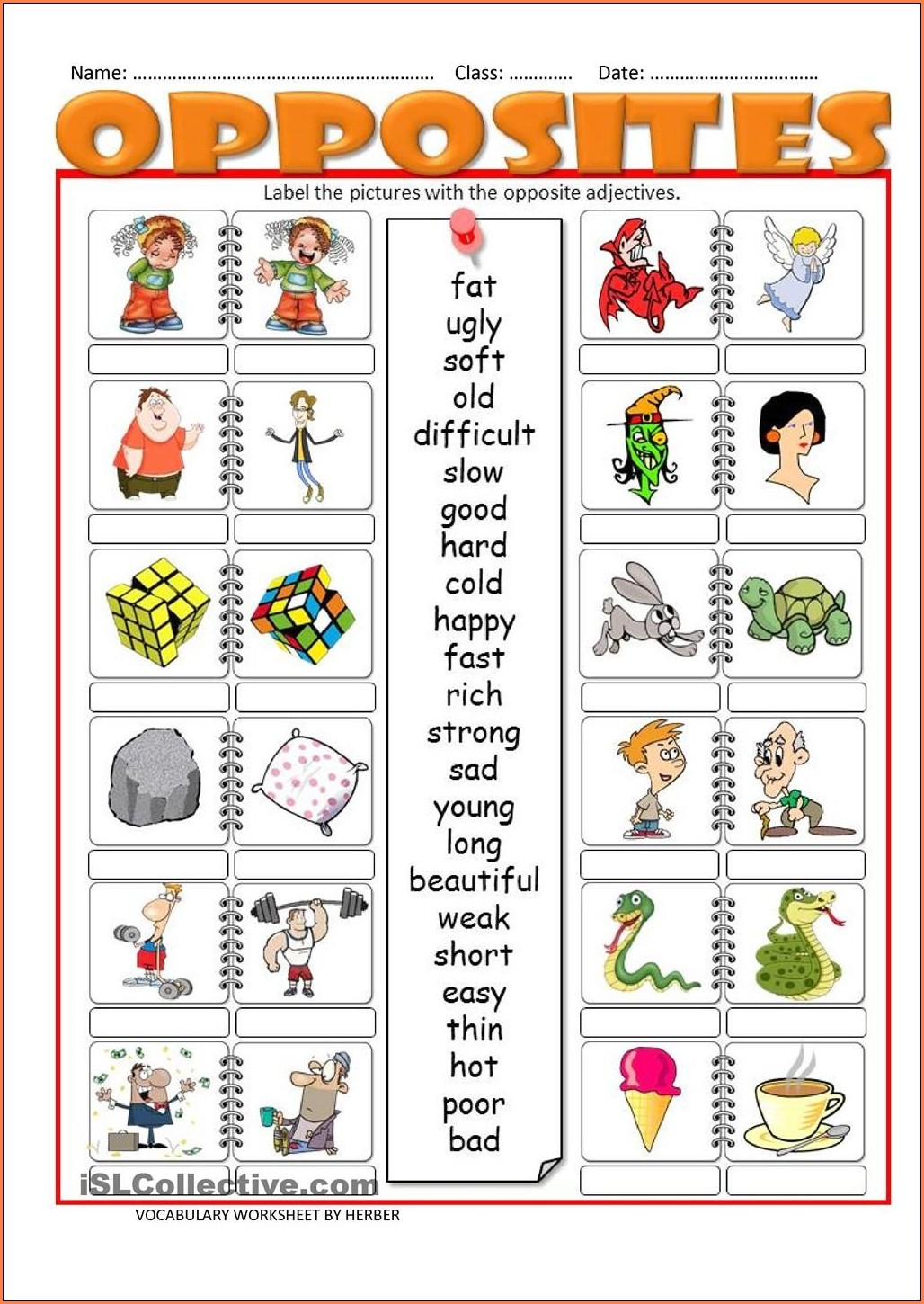 Adjectives Worksheets For Kids