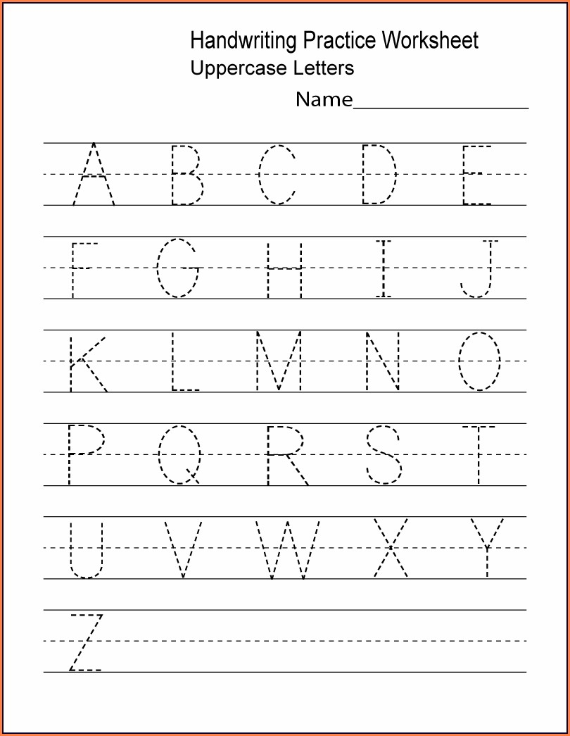Alphabet Free Printable Worksheets For Preschool