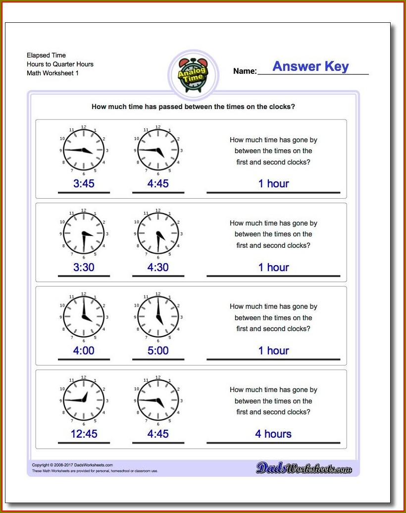 Analog Time Worksheets 3rd Grade