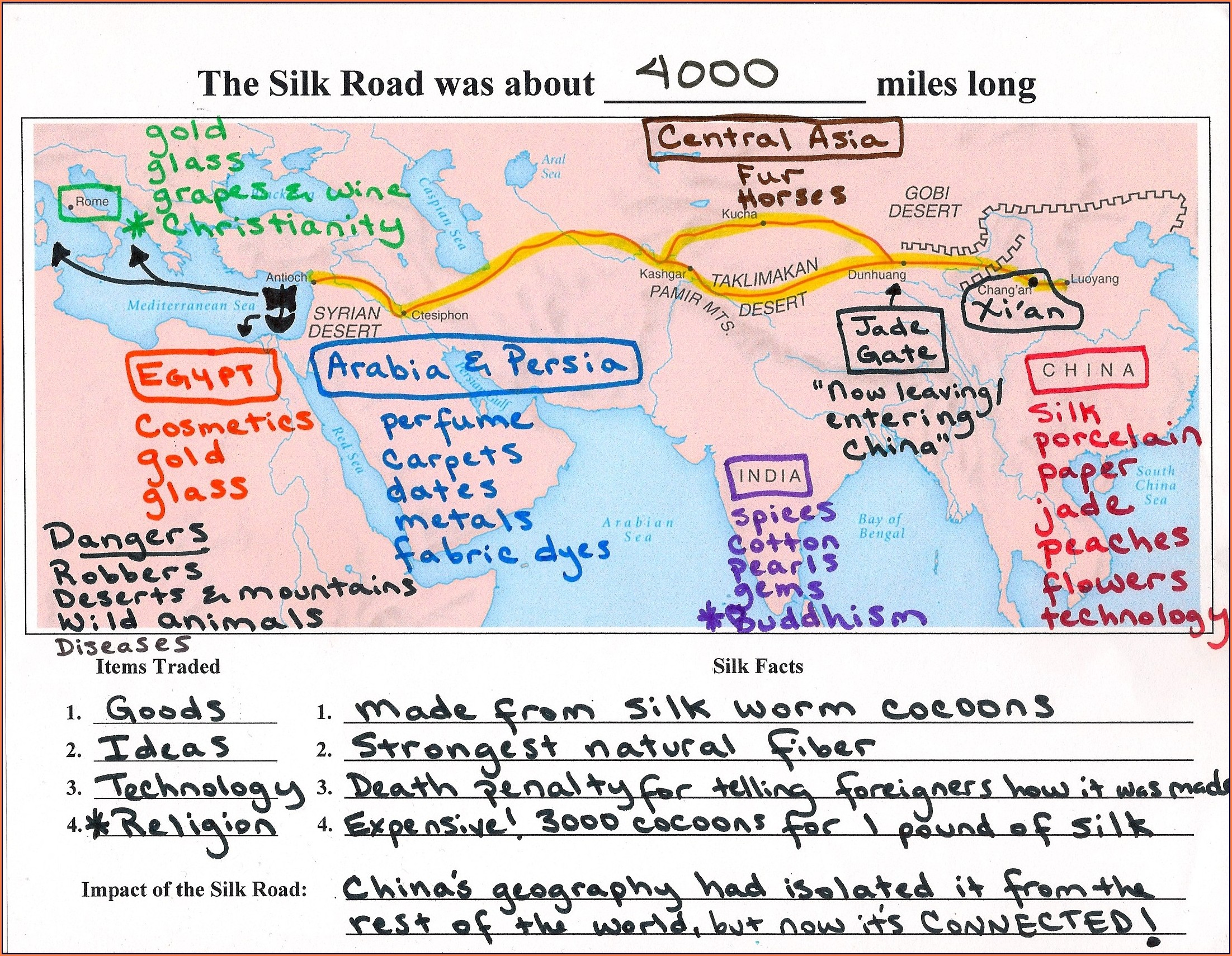 Ancient China Map Worksheet 6th Grade