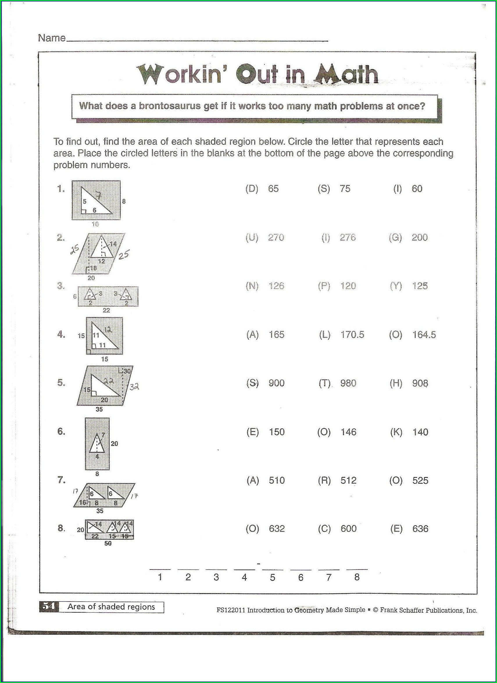 Area Of Irregular Shapes Worksheet Pdf 3rd Grade