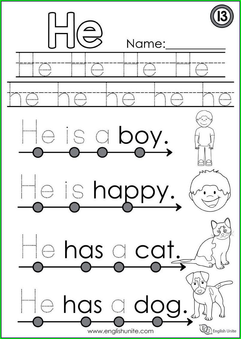Preschool Sight Word Handwriting Worksheets - Worksheet ...