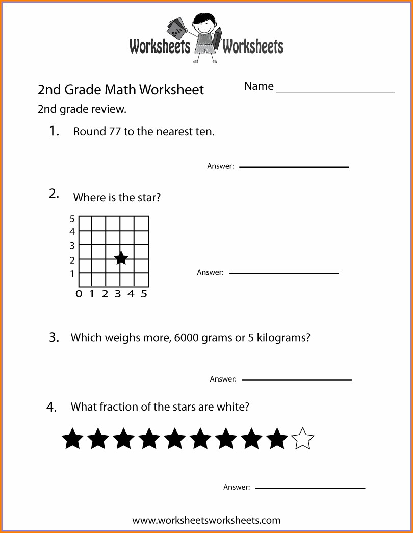 Christmas Math Worksheet For Second Grade