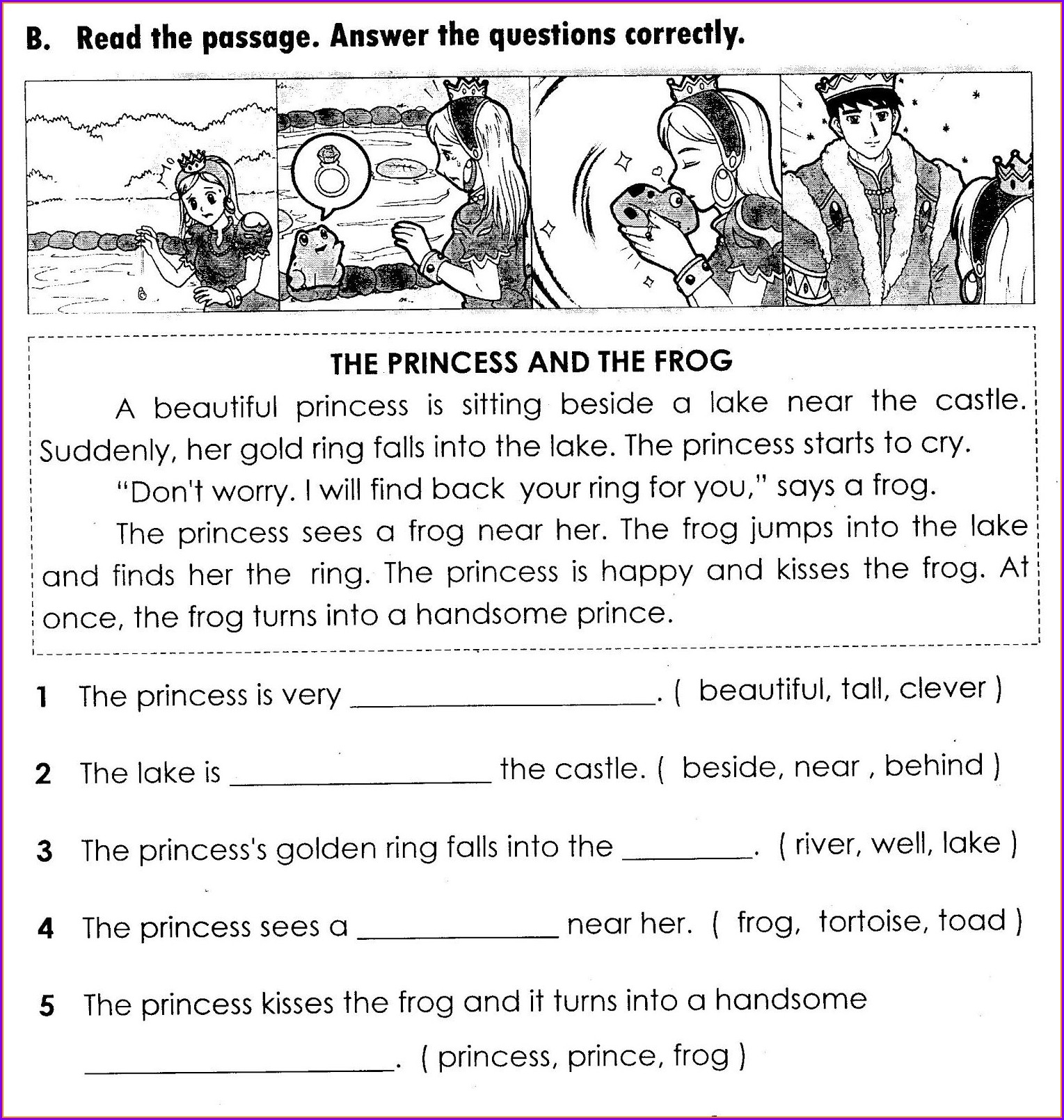 Comprehension English Worksheet For Grade 3