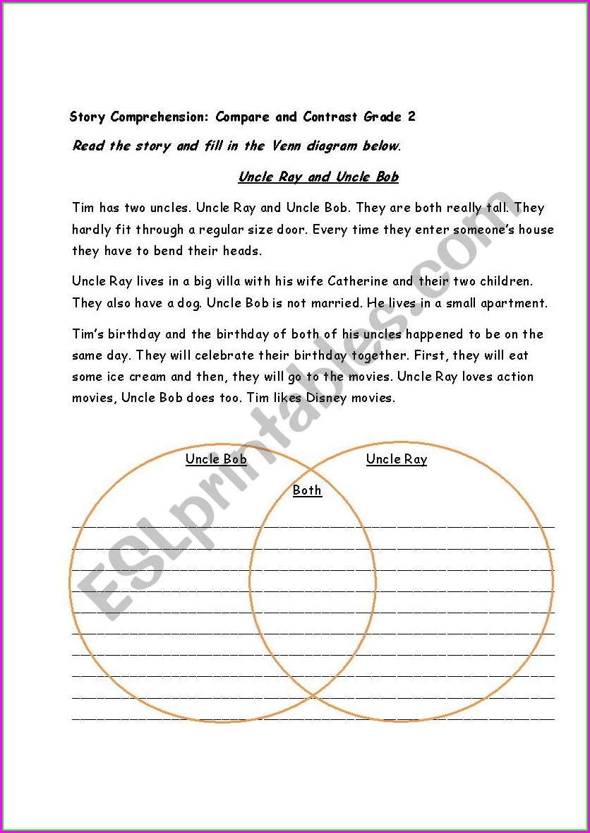 Comprehension Worksheets For Grade 5 With Answers