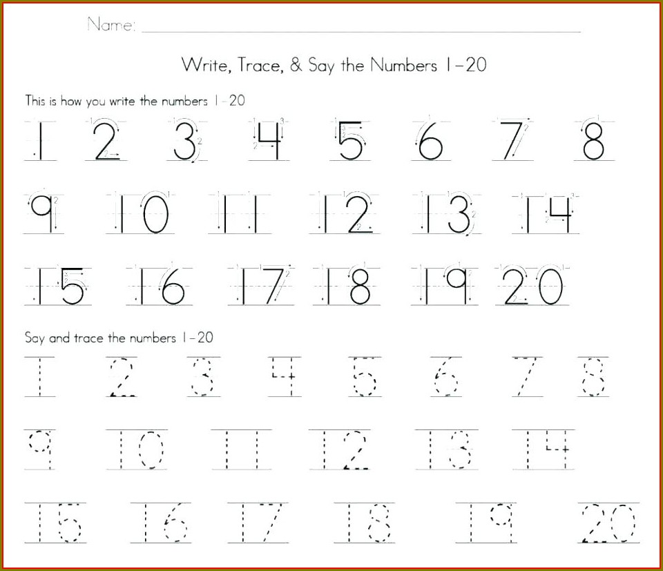Counting Numbers 1 100 Worksheet