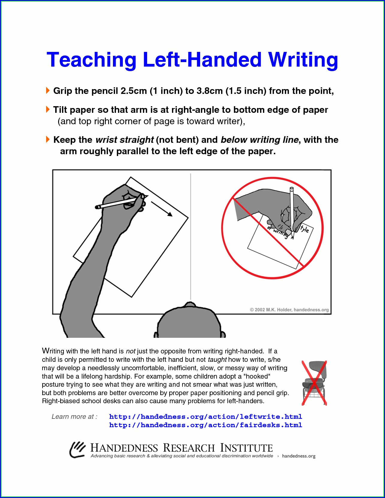 Cursive Writing Worksheets For Left Handers