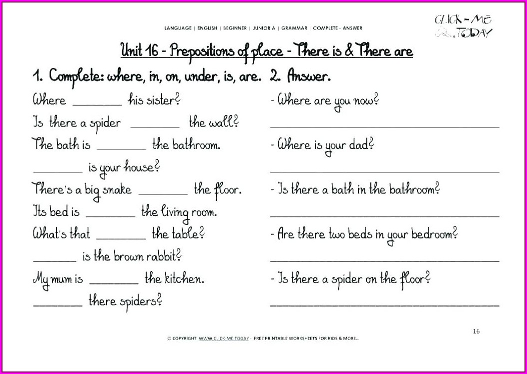 English Grammar Worksheets For Grade 7 Pdf
