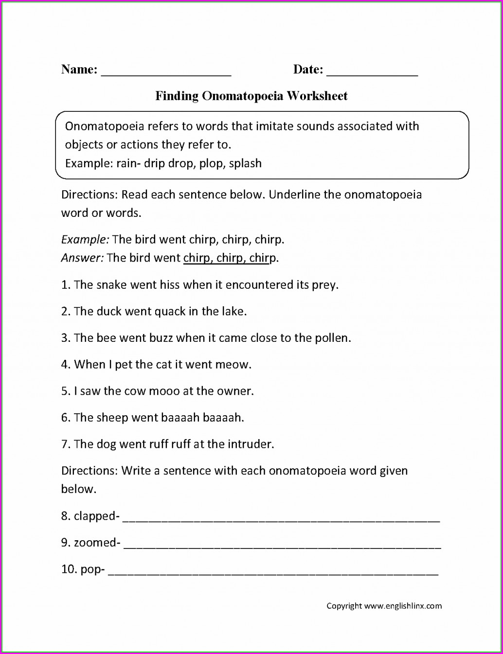 English Worksheet Grade 8