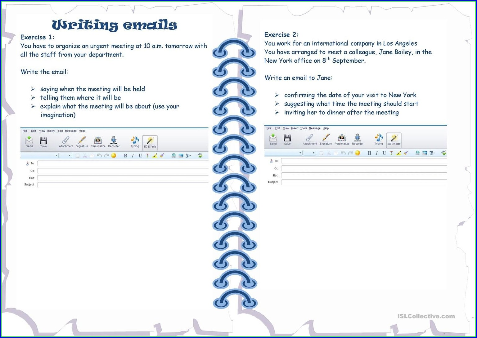 Esl Writing Emails Worksheet
