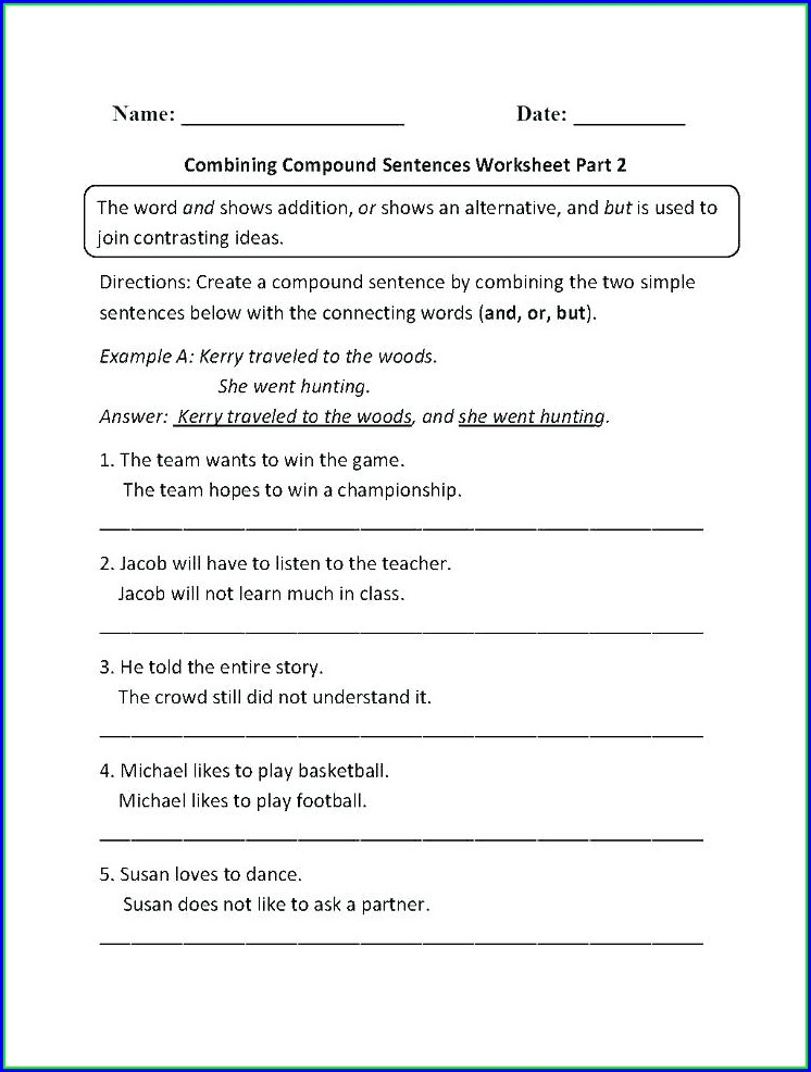 Esl Writing Simple Sentences Worksheets