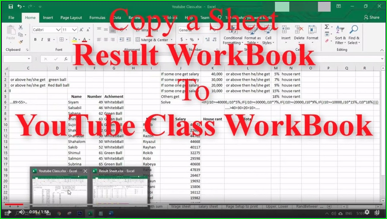 Excel Copy One Worksheet To Another Workbook