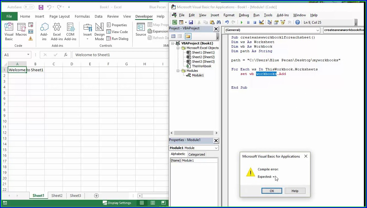 Excel Vba For Worksheet