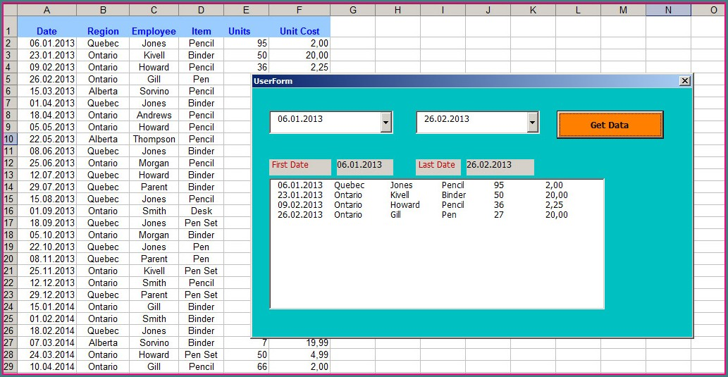 Excel Vba Sort A Table