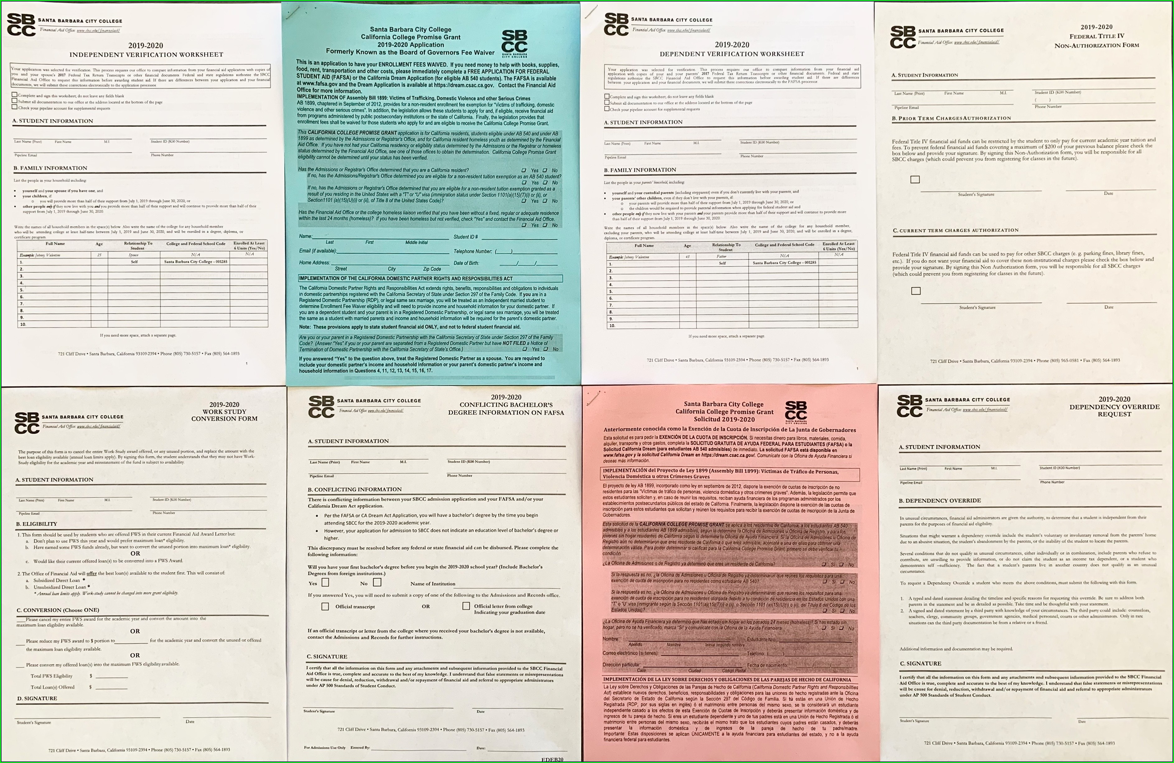 Financial Aid Independent Worksheet