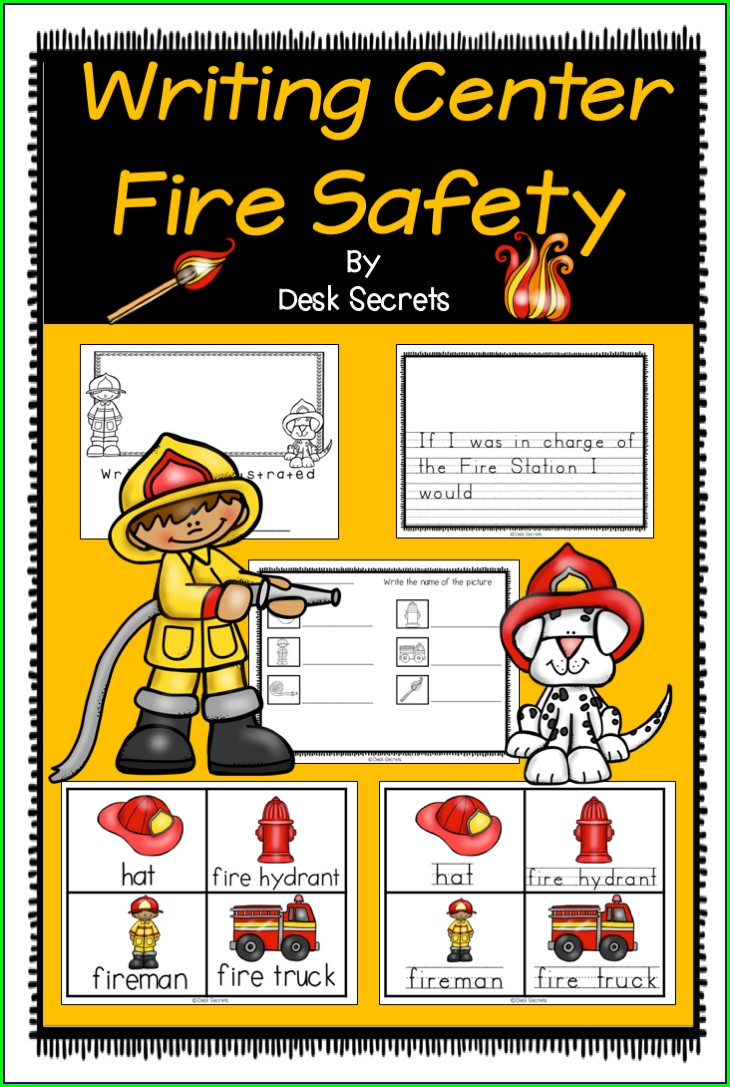 Fire Safety Worksheet First Grade