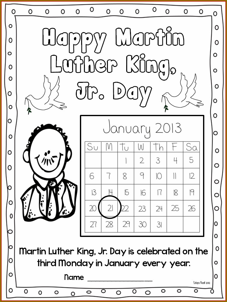First Grade Free Martin Luther King Worksheets