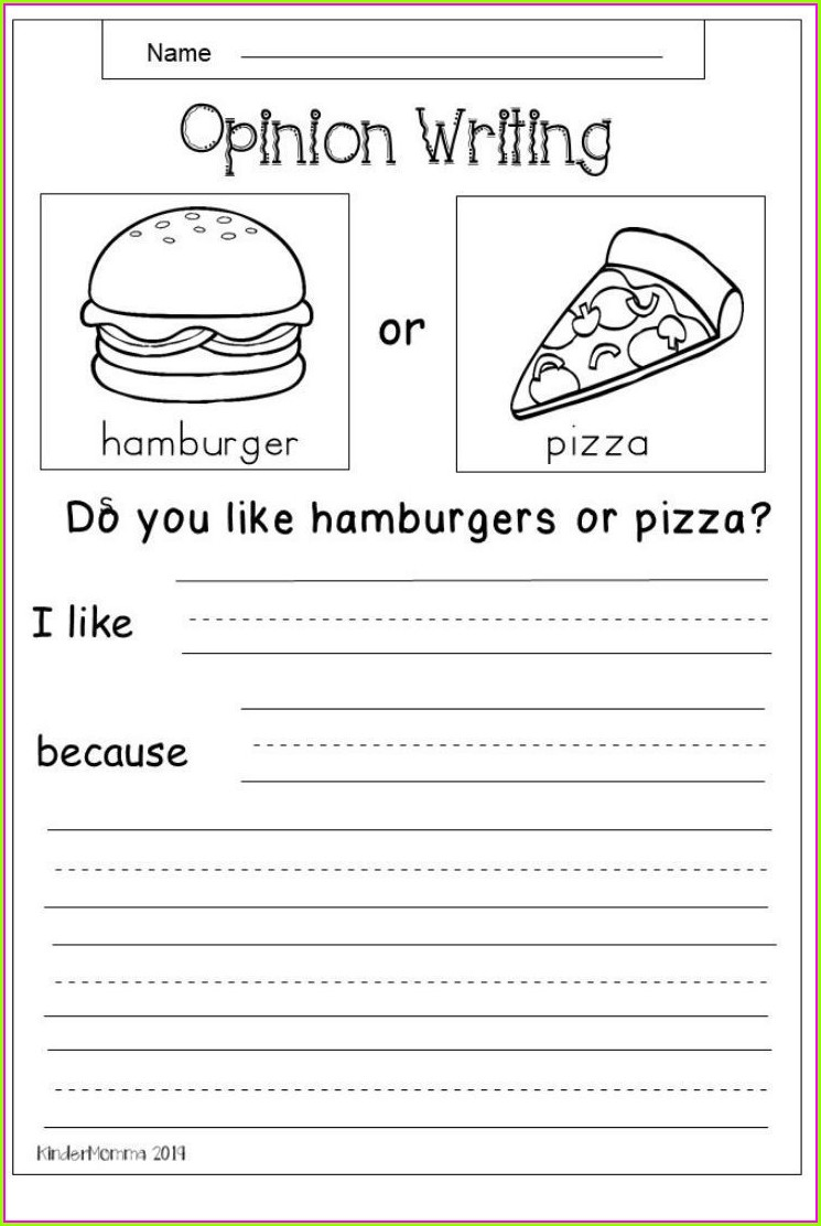 First Grade Grade 1 Writing Worksheets Free Printable