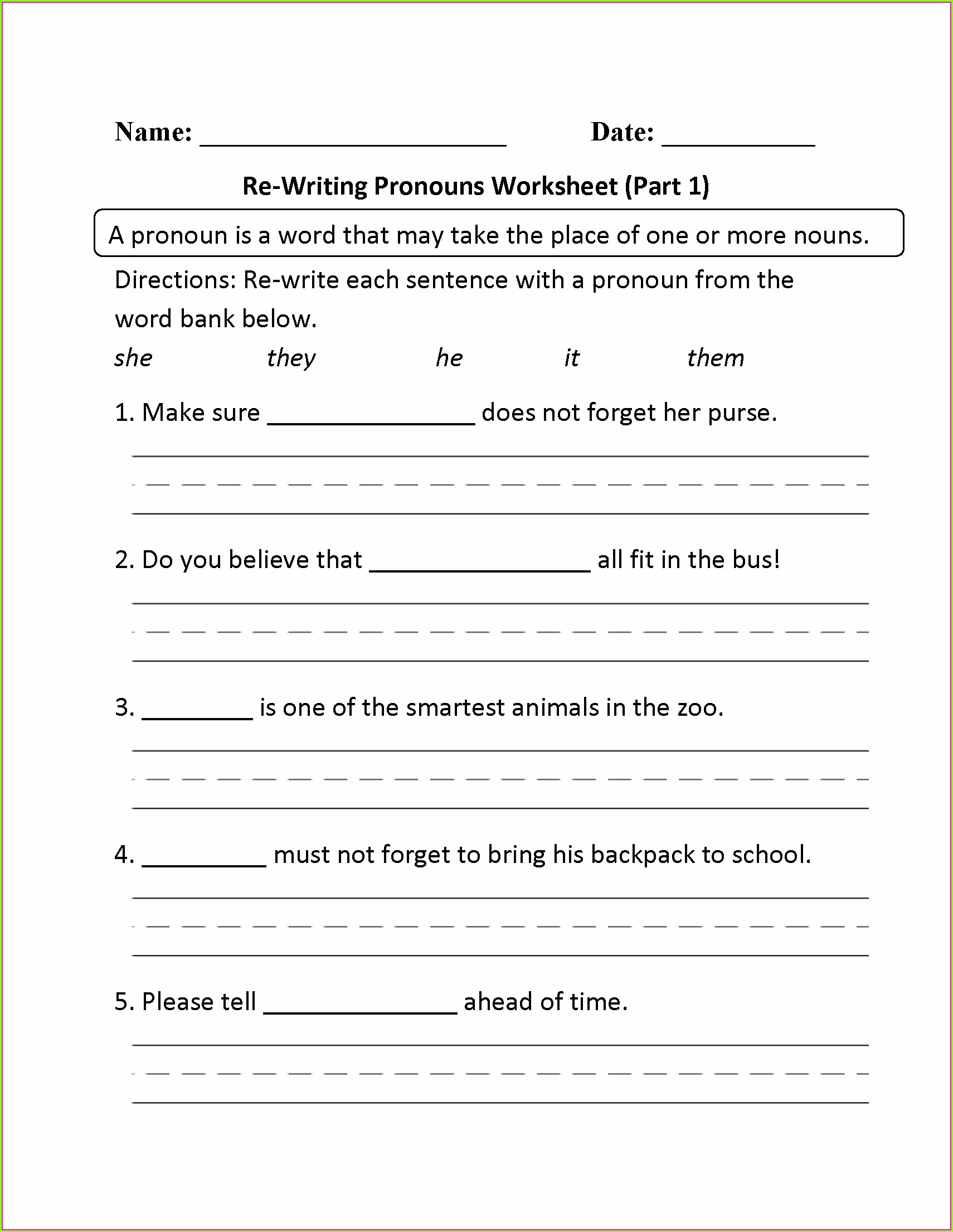 First Grade Grade 1 Writing Worksheets