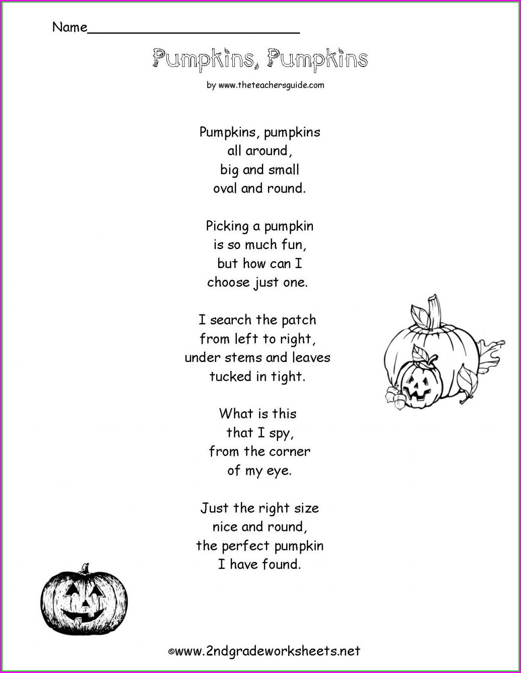 First Grade Halloween Worksheet
