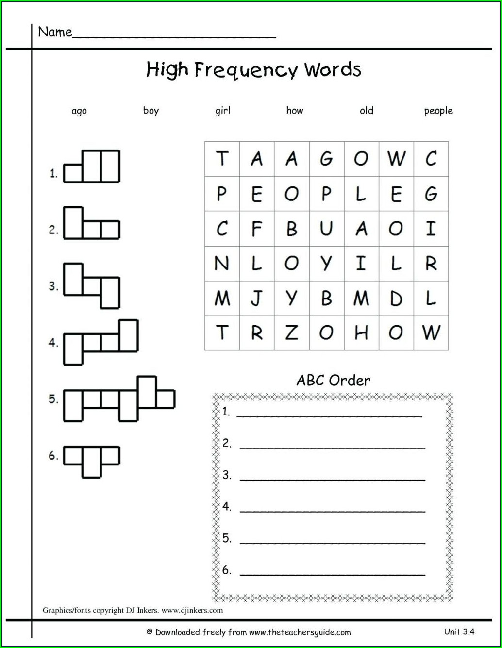 First Grade Language Worksheets