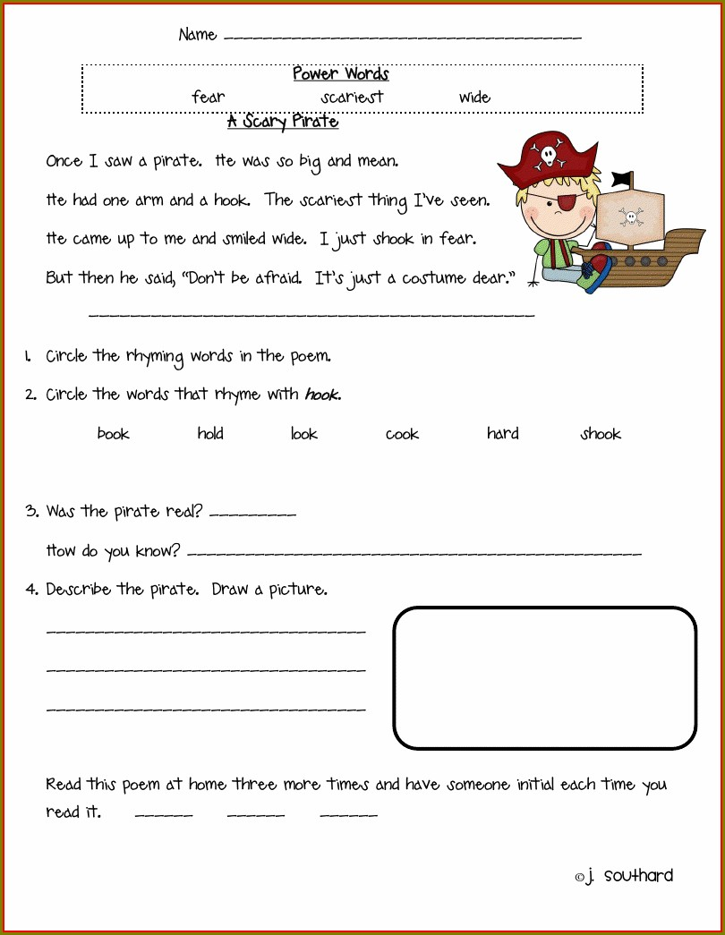 First Grade Reading Comprehension Worksheets Pdf Free