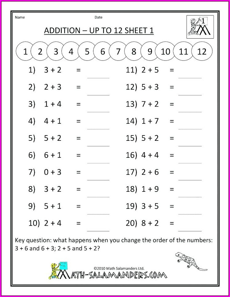First Grade Worksheet On Fractions
