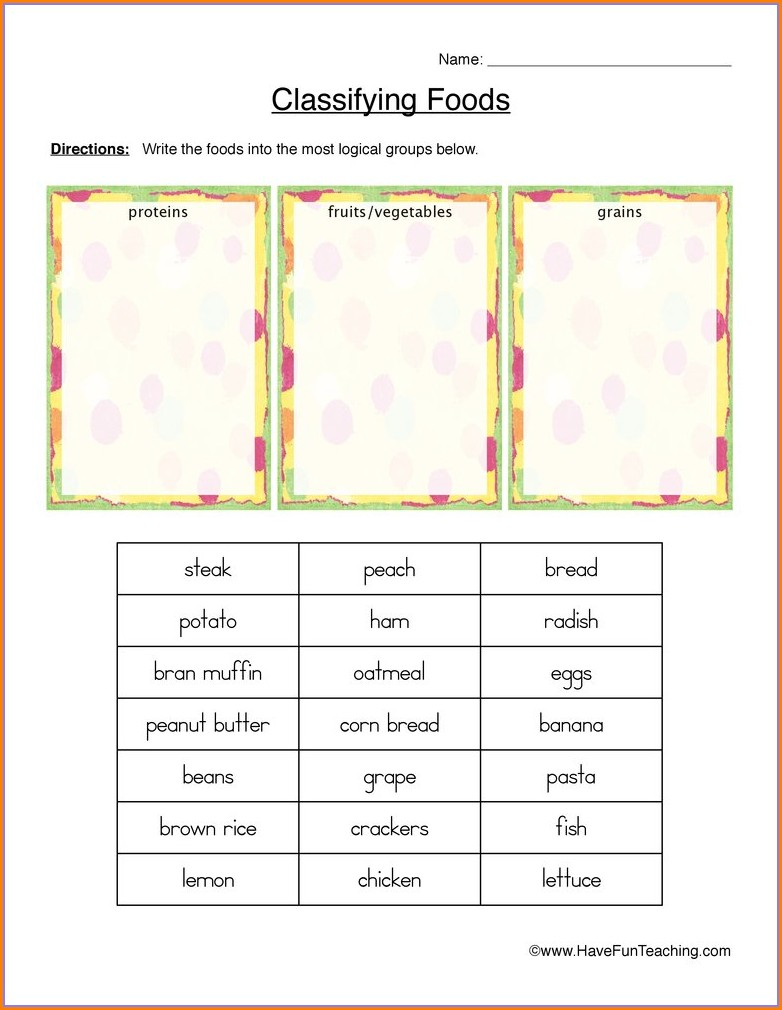 Food Tasting Worksheet Ks1