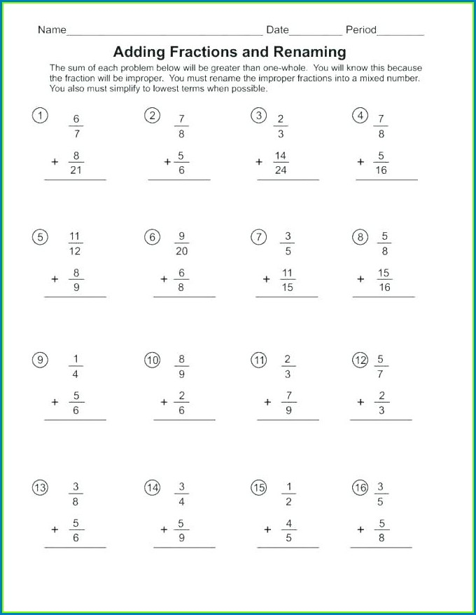 Fraction Word Problems Worksheets 7th Grade Pdf