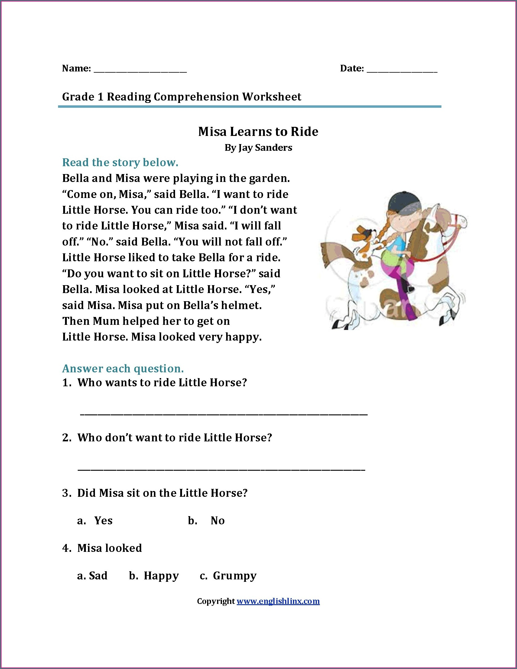 Free English Worksheets For Grade 6
