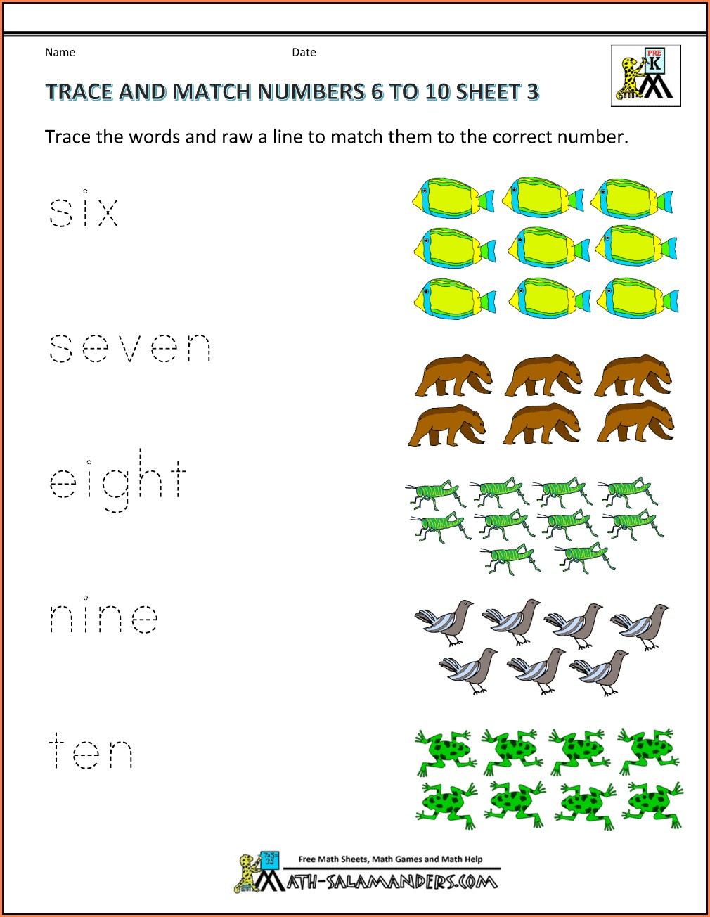 Free Math Worksheets Number Sequencing