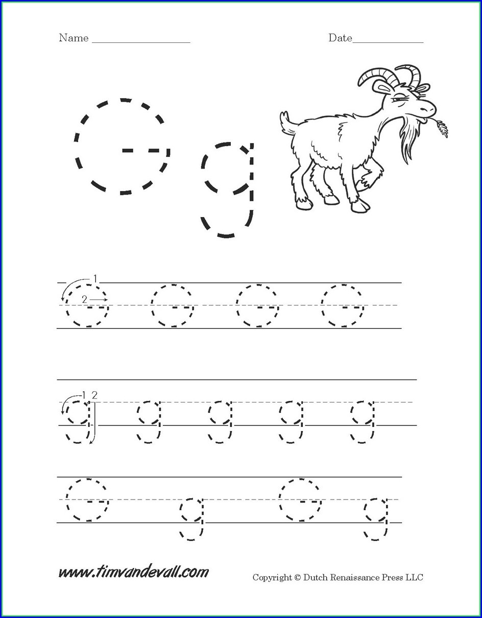 Free Printable Letter Worksheet Preschool