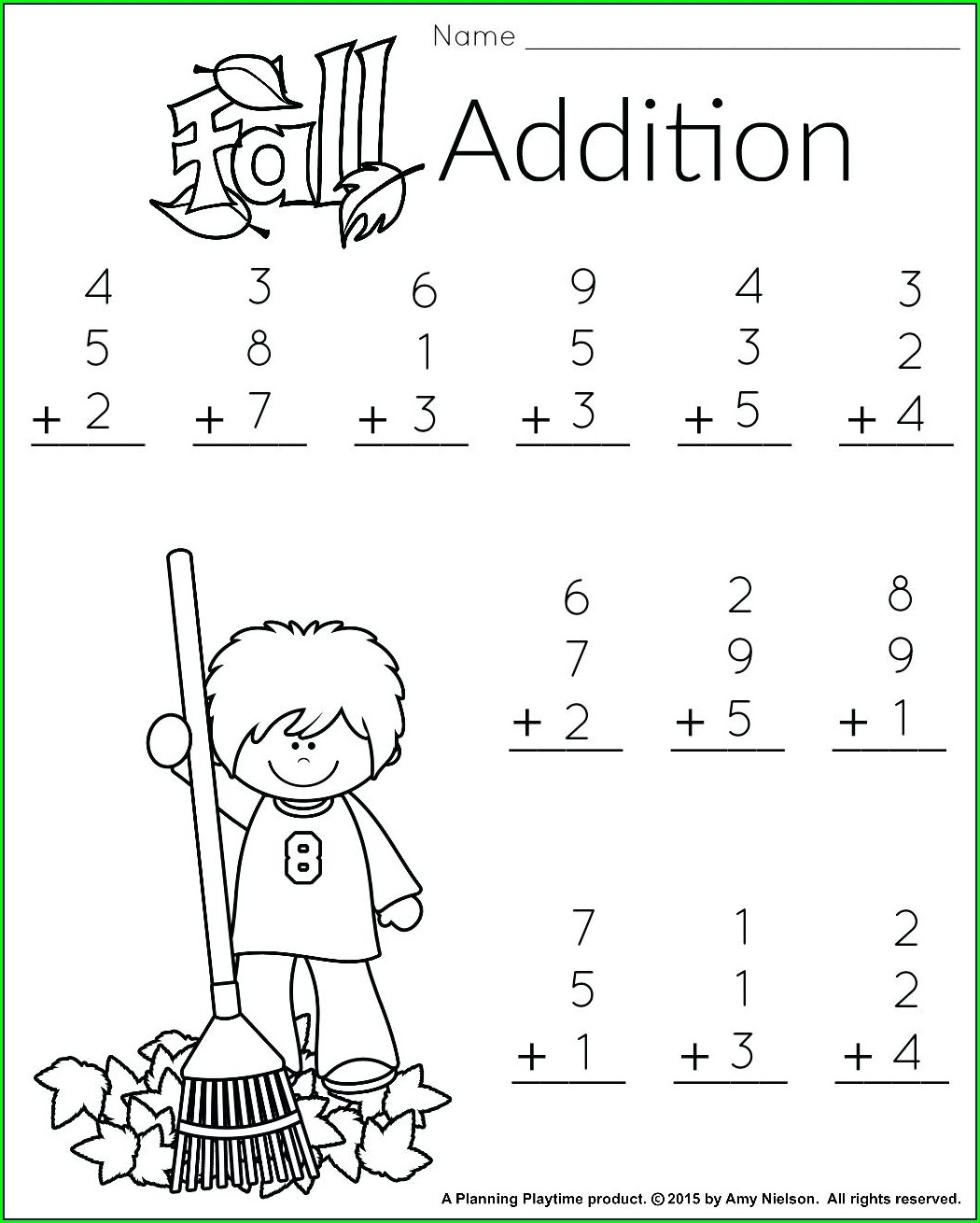 Fun Math Worksheet For 1st Graders
