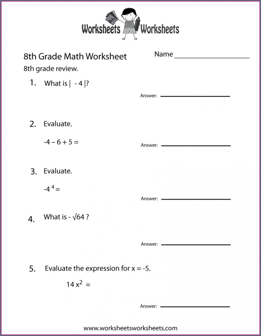 Functions 8th Grade Math Worksheets