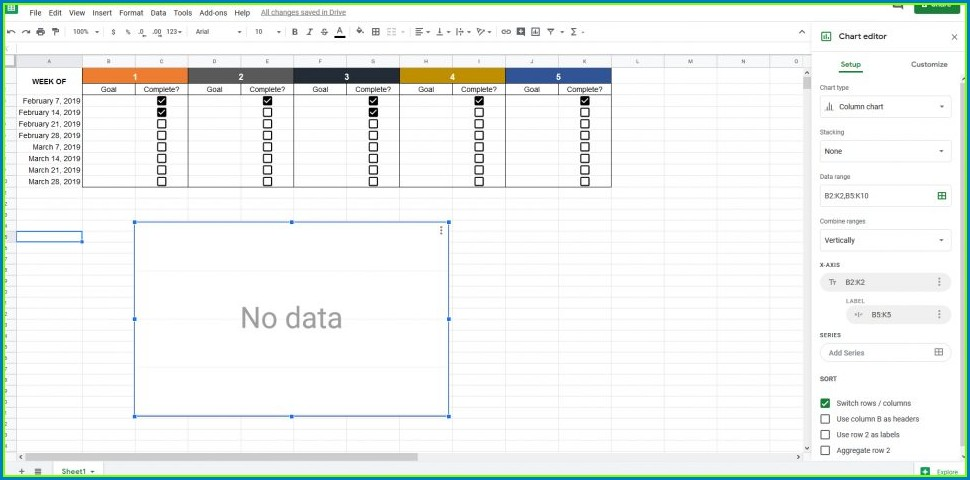 Goal Setting Spreadsheet Template Download