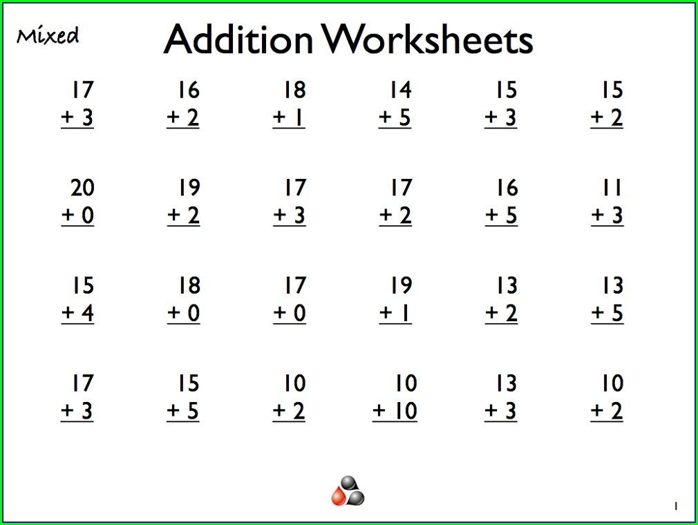 Grade 1 Addition 1st Grade Math Worksheets