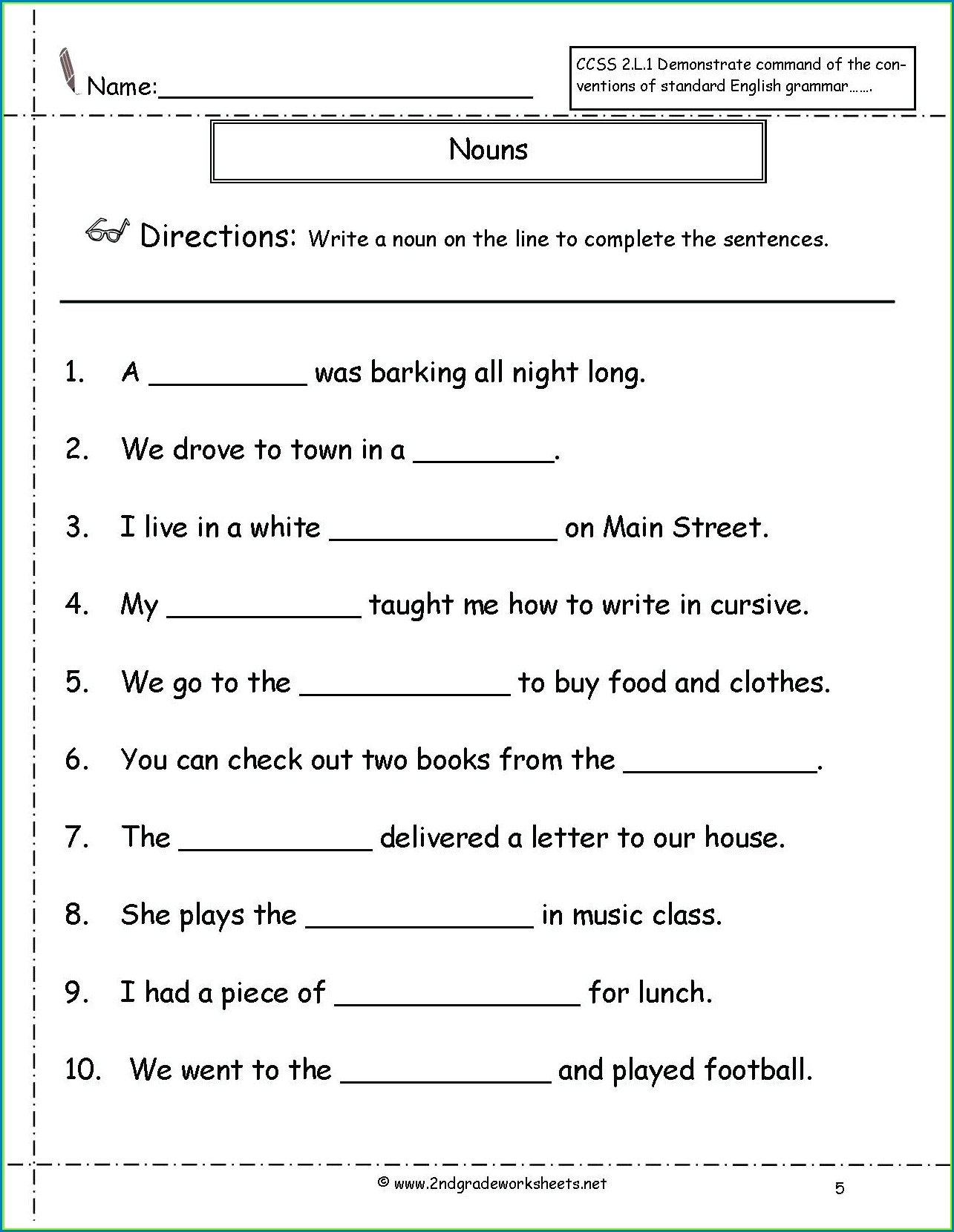 Grade 2 English Reading Worksheets Pdf
