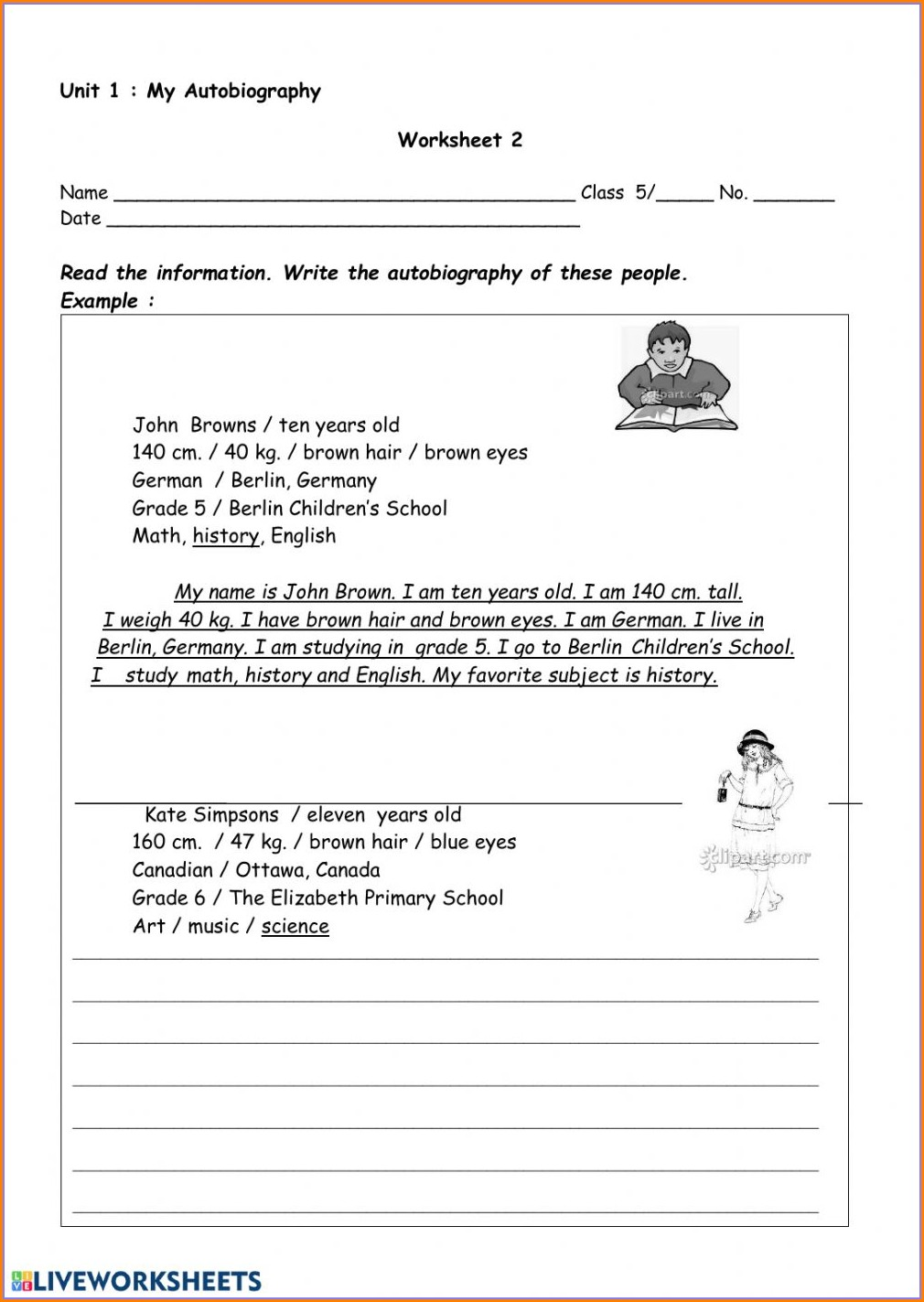Grade 2 English Worksheets Canada