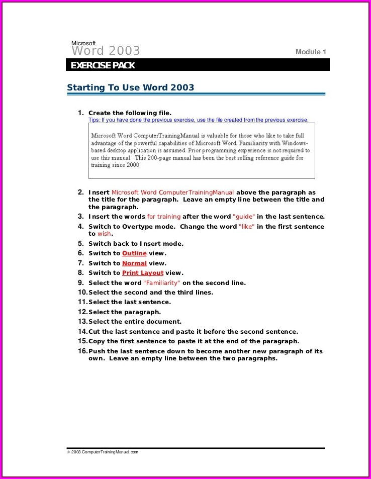 Grade 3 Microsoft Word Worksheets For Students