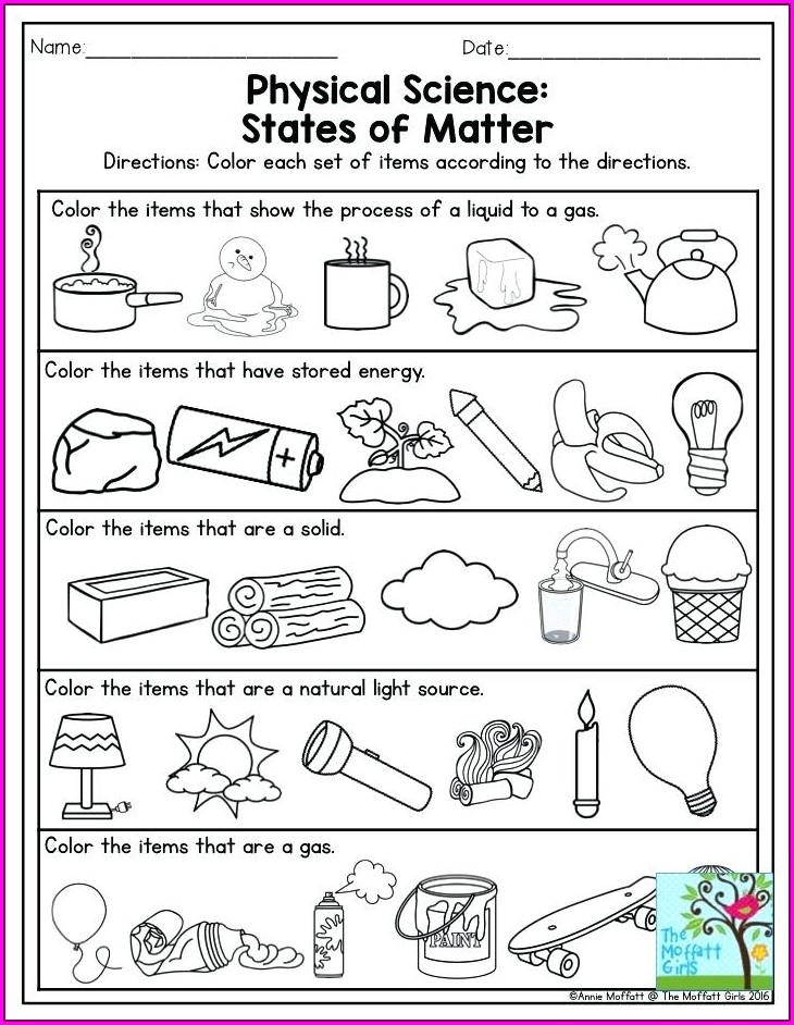 Grade 4 Natural Science Worksheets