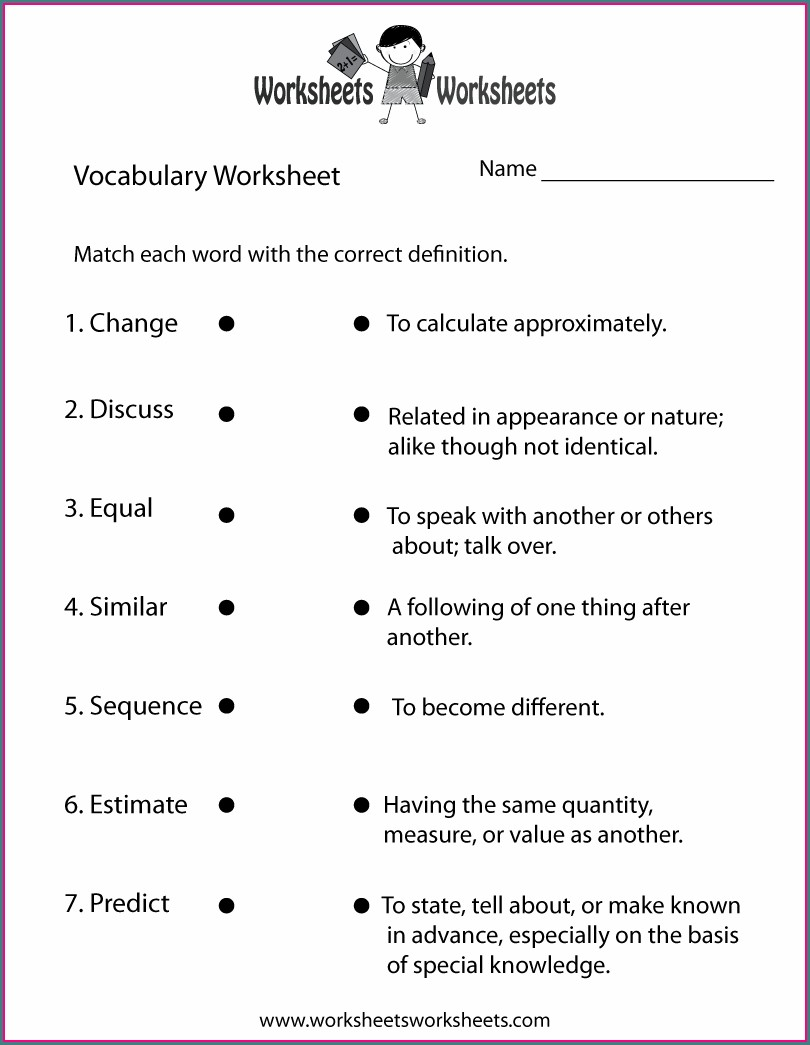 Grade 5 English Worksheets
