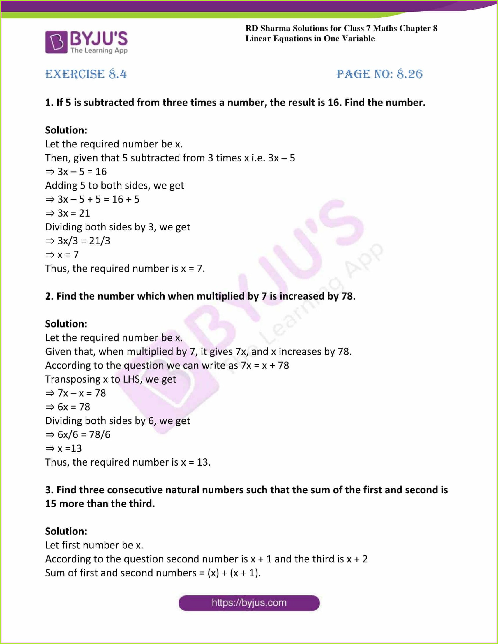 Grade 6 Math Word Problems Worksheets