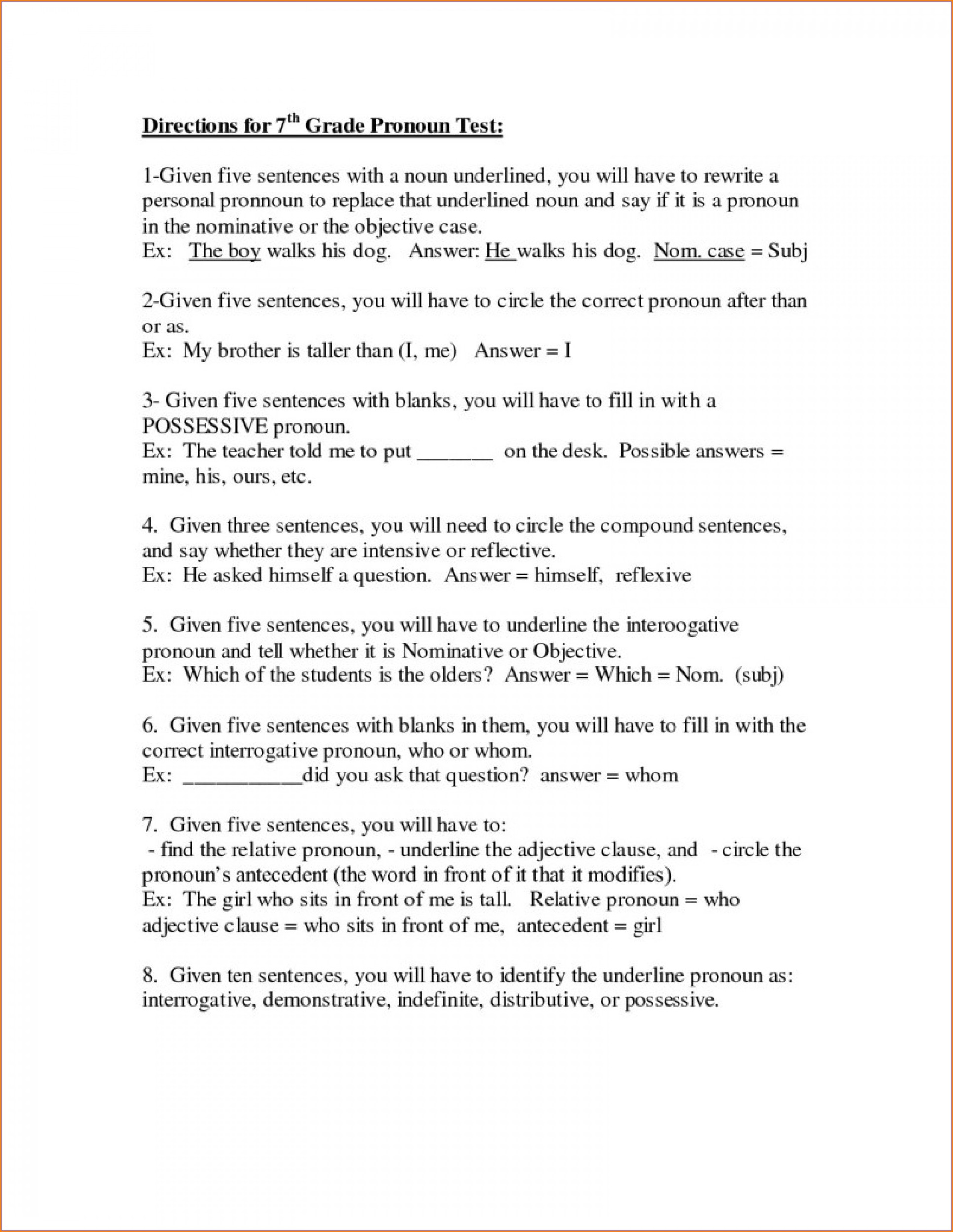 Grade 8 English Writing Worksheets