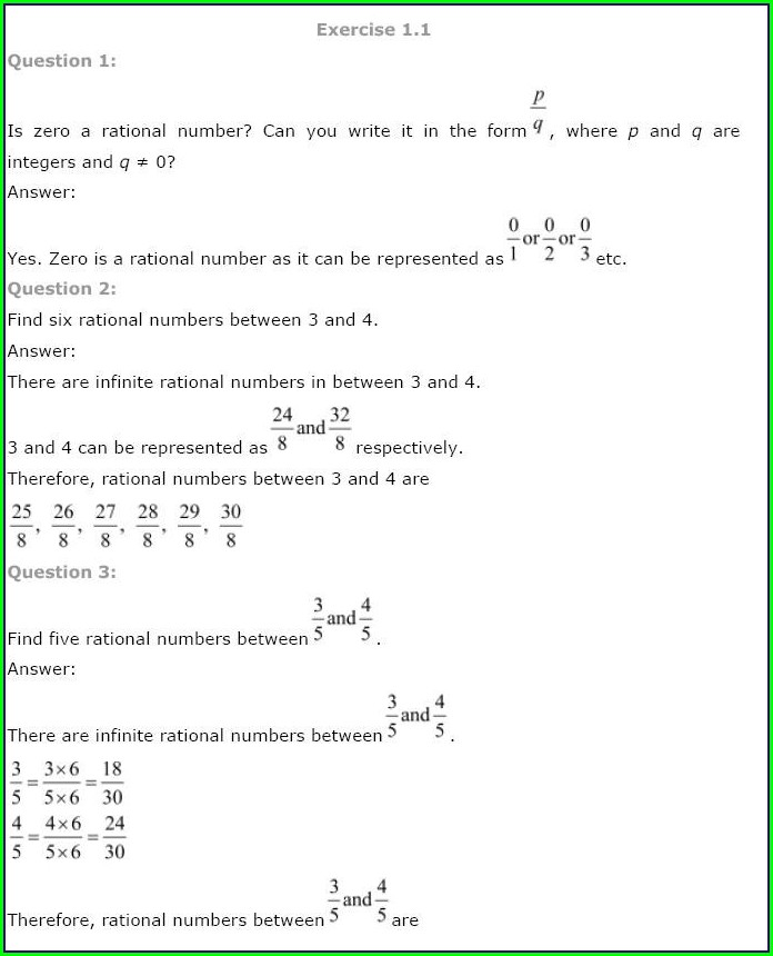 Grade 9 Math Worksheets Number System