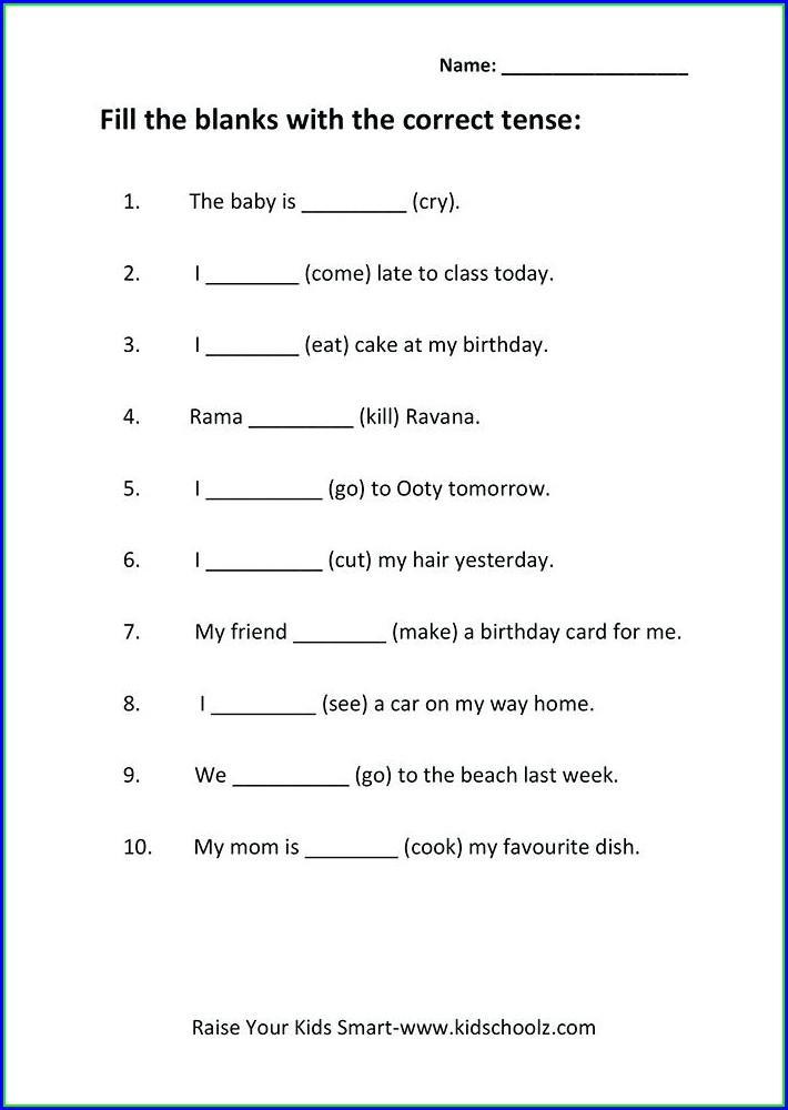 Grammar Worksheets For Grade 5 With Answers
