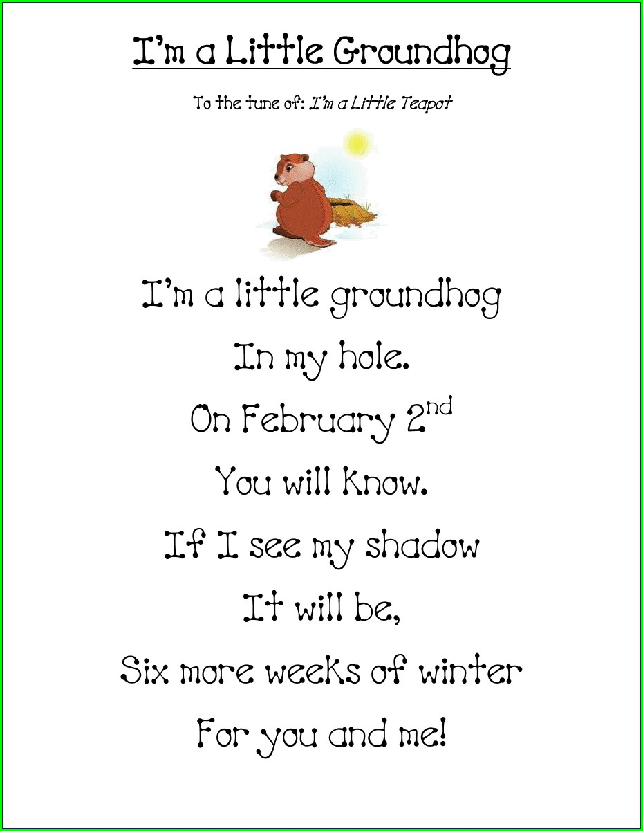 Groundhog Day Lesson For First Grade