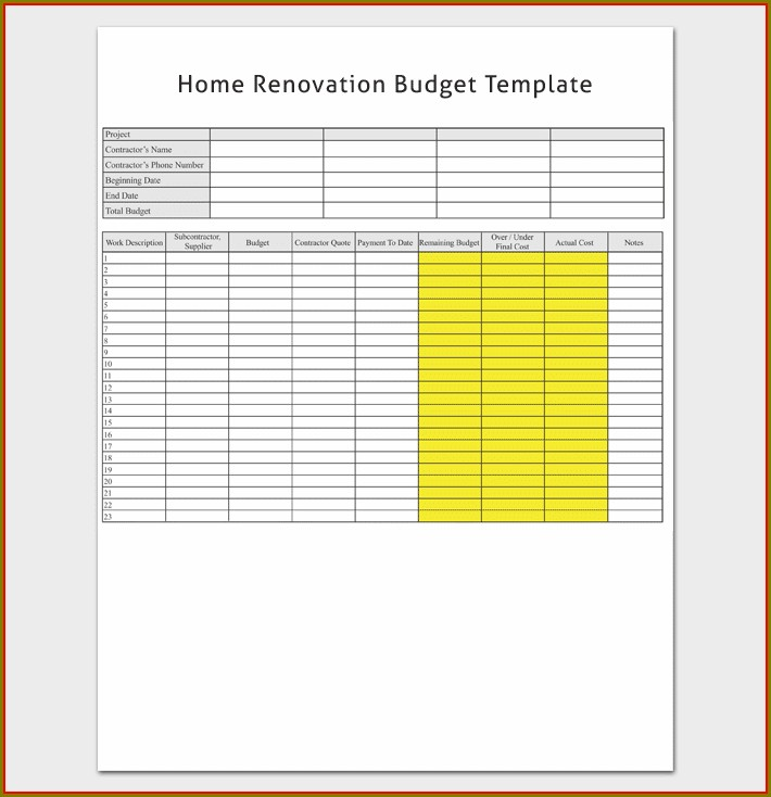 Home Budget Worksheet Filetype Pdf