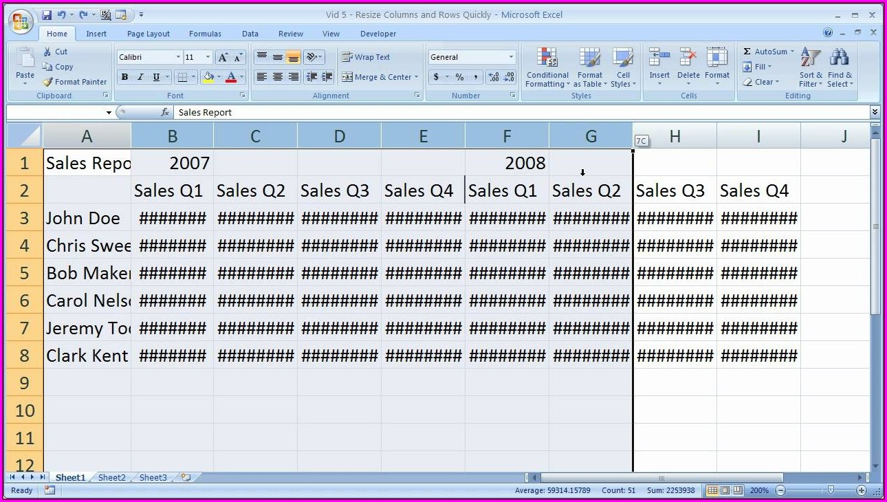 How To Downsize Excel Sheet