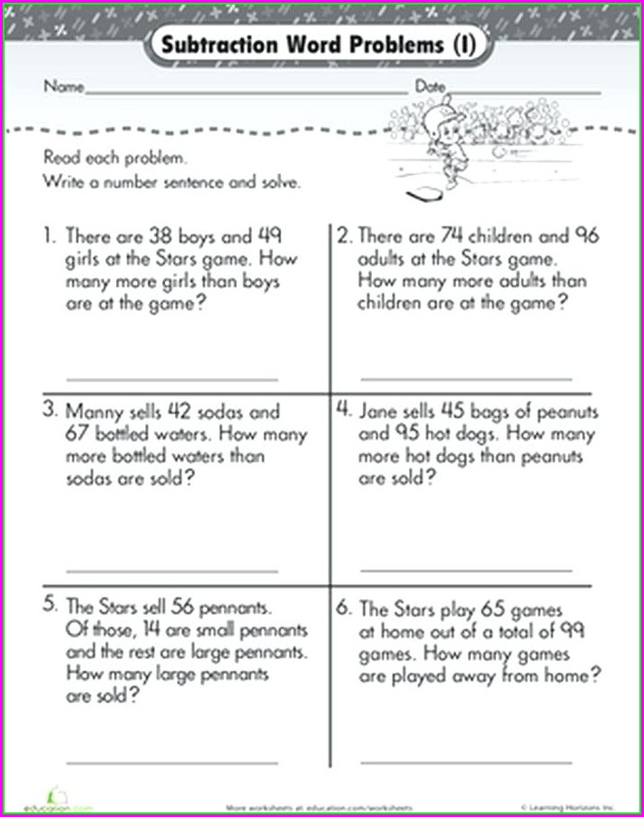 Integer Addition And Subtraction Word Problems Worksheet